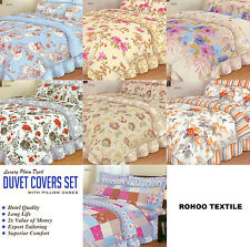 Duvet With Pillow Case Quilt Cover Beddings Set Single Double King Super King