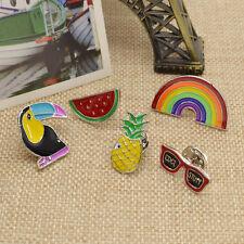 Brosche Anstecknadel Brooch Rabe Regenbogen Brille Wassermelon Ananas Schmuck