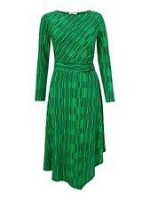 Finery London JODI green asymmetric striped midi DRESS UK 18 fit & flare