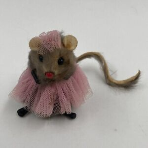 "Russ Ballerina Mouse 1985 Russ Berrie Approximately 2"" Tall"