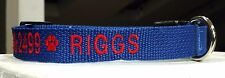 PERSONALIZED  Embroidered DOG COLLAR Pet ID Tag - Name and Phone!