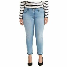 MSRP $60 Levi's Women's Plus Size 711 Skinny-Ankle Jeans Blue Size 16W