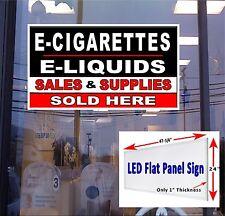 "LED Sign E -Cigarettes, Liquids Sales & Supplies Sold Here 48""x24"" window sign"
