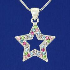 Wish Star W Swarovski Crystal Multi Color New Pendant Necklace Gift