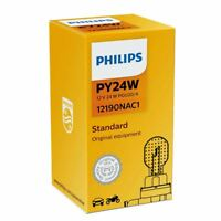 Philips Standard PY24W Halogen Car Front Indicator Bulb 12190NAC1 Single