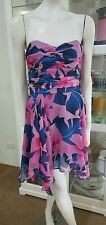 Wish strapless cocktail dress.Sz10.100% silk.Boned bodice.As new condition