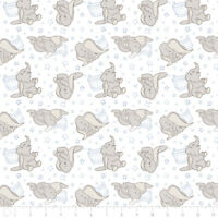 Disney Dumbo Elephant & Stars Blue Camelot 100% cotton fabric by the yard