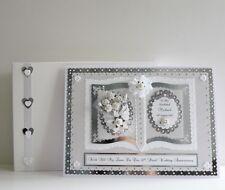 30th Pearl Wedding Anniversary Card Wife/Husband/Mum & Dad +Box  Personalised