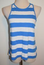 New Hollister Small Tank Top Blue White Striped Sleeveless Cotton Shirt