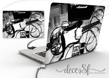 Vintage guitare électrique BLACK & WHITE DESIGN | macbook 13 Vinyle Autocollant Couvercle Wrap
