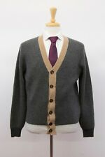 NWT$2995 Brunello Cucinelli Men 100% Cashmere Ribbed Knit Cardigan 50/ 40US A201
