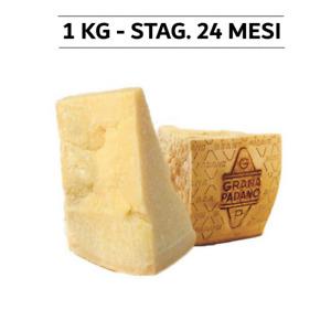 1Kg | Formaggio Grana Padano DOP Stagionato 24 Mesi - sconto su + quantità