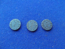 THREE x3 OPA Blue Point Token World War Two WWII Ration vintage coin