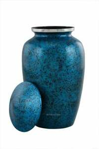 Cremation Urn Classic Royal Blue For Human Ashes Adult  200 Cubic In Funeral