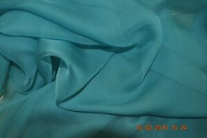 Pure silk chiffon, 114 cm, ocean, sold by the metre