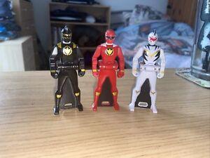 Gokaiger Ranger Keys Abaranger Black, Red & White X3 Bandai Of Japan