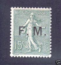 """FRANCE FM 3 """"SEMEUSE 15c VERT"""",NEUFxxTTB, VALEUR:210€"""