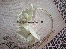 Ivory Pearl Beaded Orchid Gold Hair Head Band Choochie Choo Bridesmaids Bridal