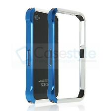 iPhone 4S|4 Aluminum Metal Bumper Frame Case Cover+Front Back Screen Protector