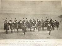 1898 Banda De 3RD Dragoon Protectores Hervidor Tambor Caballo