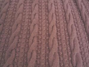 Hand Knitted in the UK Dusky Pink Blanket or Throw