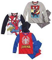 NEU Spiderman Schlafanzug Pyjama Lang Jungen Gr. 104 110 116 128 140 Kinder