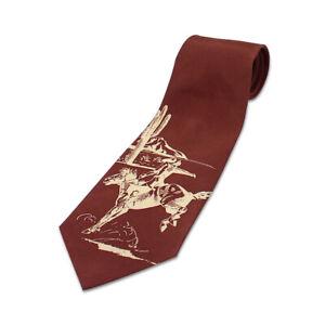"Vintage ACME Studio ""Bronco - Brown"" 100% Silk Tie by Designer Rod Dyer NEW"