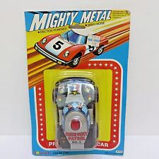 New listing Mighty Metal Toy Car Toymark, Friction Powered Siren Noise Hwy Patrol New in Pkg