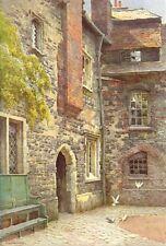 Washhouse Court, Charterhouse. London. By Ernest Haslehust 1920 old print