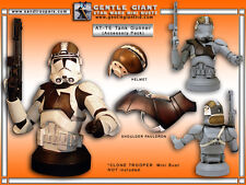 RARE Star Wars - Episode III CLONE TROOPER Mini Bust AT-TE Accessory Pack, NEW