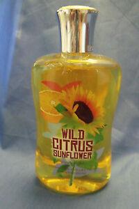 Bath and Body Works New Wild Citrus Sunflower Women Shower Gel 10 oz