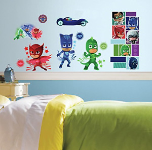 PJ Masks RoomMates Vinyl Wall 13 Bedroom Decals Stickers
