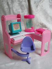 Barbie Magic Moves Home Office Fax Machine Computer Desk