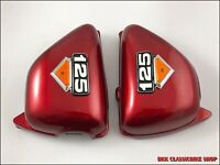 Honda CB125S CD125S CB125 1976-82 Side Cover Red   Pair , Left & Right  & Emblem