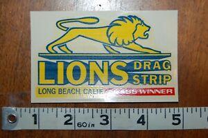 "VINTAGE DRAG STRIP DECAL ""Lions drag strip"""