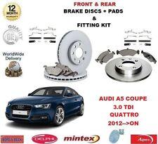 Para Audi A5 Coupe 3.0 TDi Quattro 2012 -- > en la parte delantera + TRASERO DISCOS DE FRENO + Kit de almohadillas