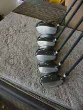 SET 0F 5 PERFECT LADY RAM AXIAL WOOD GOLF CLUBS D 3 5 3H 4H NEAR PERFECT