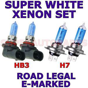 BMW M5 2000-ON SET H7 HB3 SUPER WHITE XENON LIGHT BULBS