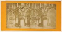 Venezia Palais Ducale Italia Foto Stereo PL55L4n Vintage Albumina c1880