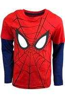 Boys Kids Children Spiderman Long Sleeve T Shirt Top age 3-8 years