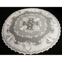 Vintage Tablecloth White Round Lace Table Cloth Topper Doily Wedding Party Decor