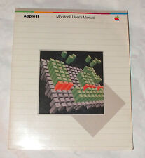 APPLE II MONITOR II USER'S MANUAL 1982 ENGLISH ONLY 12 Pages PERFECT Collector