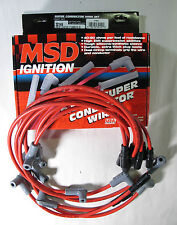 MSD Ignition 32149 Super Conductor LT1 8.5mm Red 90º Stock Spark Plug Wire Set