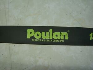 """NEW Poulan / Snapper 18"""" Chainsaw Bar  Yellow Color Match 62 Drive Line 50 Gauge"""