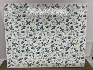 "Laura Ashley Blue Strawberry Fields 8"" x 10"" Glazed Wall Tile"