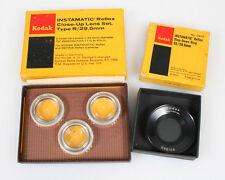 KODAK INSTAMATIC REFLEX CLOSE UP LENS SET AND STEP DOWN RING IN ORIGINAL BOX