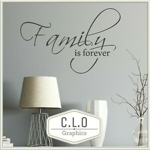 Lovely Quote Wall Sticker Vinyl Transfer Home Art Decor Family is Forever Decal