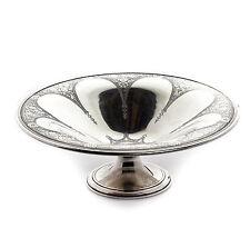 "Tiffany & Co. Sterling Silver Black Flower Filigree Serving Bowl 17.3 oz  10"""