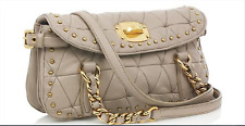 SUPER GORGEOUS !!!  MIU MIU GOLD STUD QUILTED LEATHER SHOULDER/CROSS BODY BAG