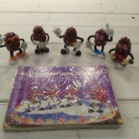 Vintage 80s California Raisin Lot of 5 Figures and Greeting Cards
